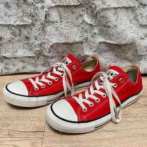 Converse (RED) All-Star Low Tops, Size 9.5/11.5